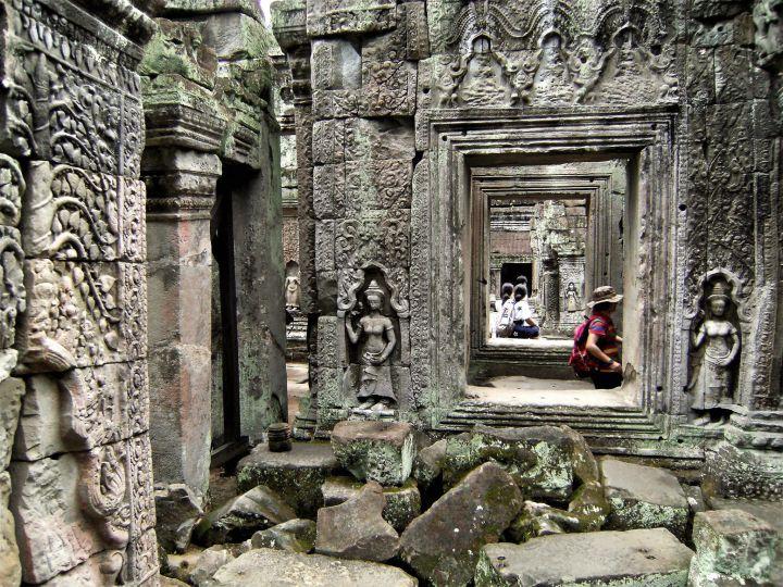 Detalle de Preah Khan, Angkor, Camboya