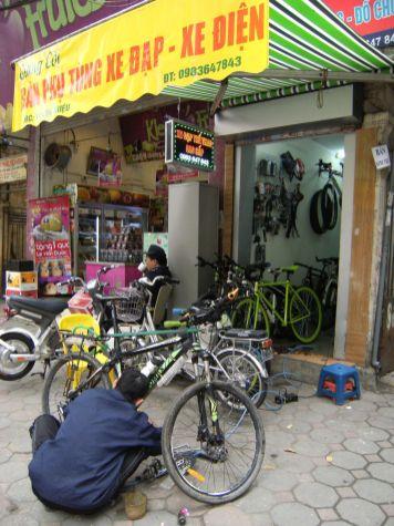 Tienda de bicis en Hanoi