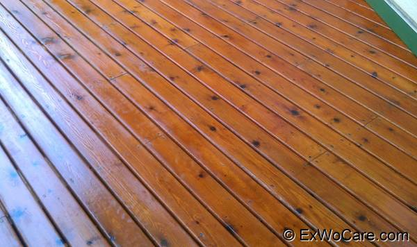 Natural Cedar on Cedar Deck Close-up