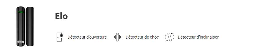 Détecteur d'ouverture + choc + inclinaison