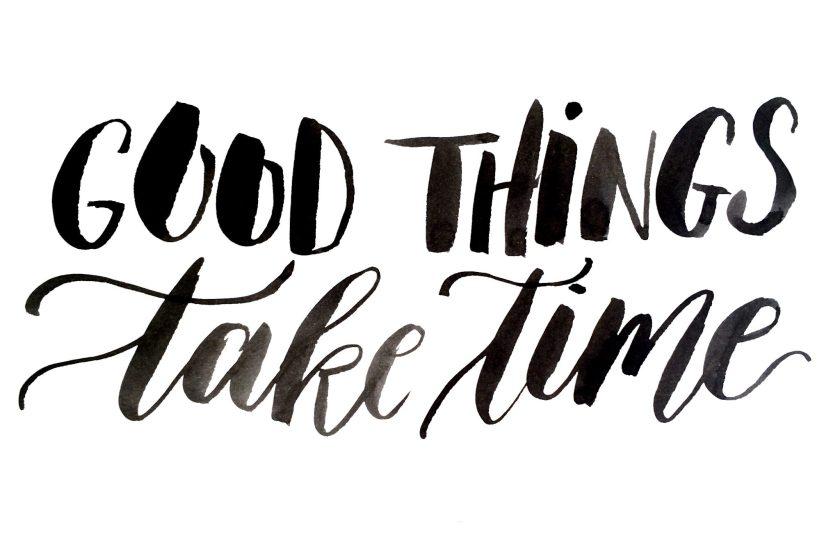 Exxpose, een beweging van jonge mensen | Good things take time | Door de Kijkkalligraaf