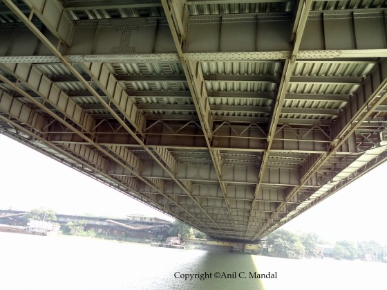 Underneath of Howrah Bridge