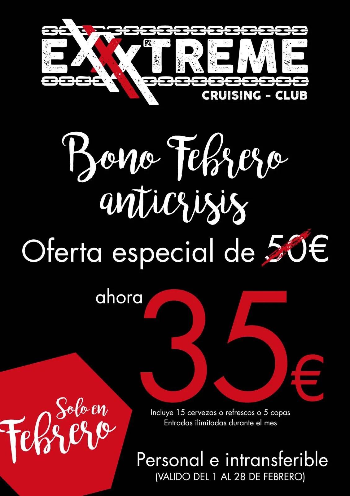 OFERTA ESPECIAL. BONO FEBRERO ANTICRISIS por 35€