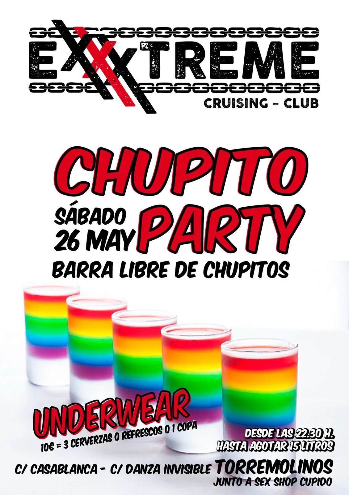 26 de mayo chupito party