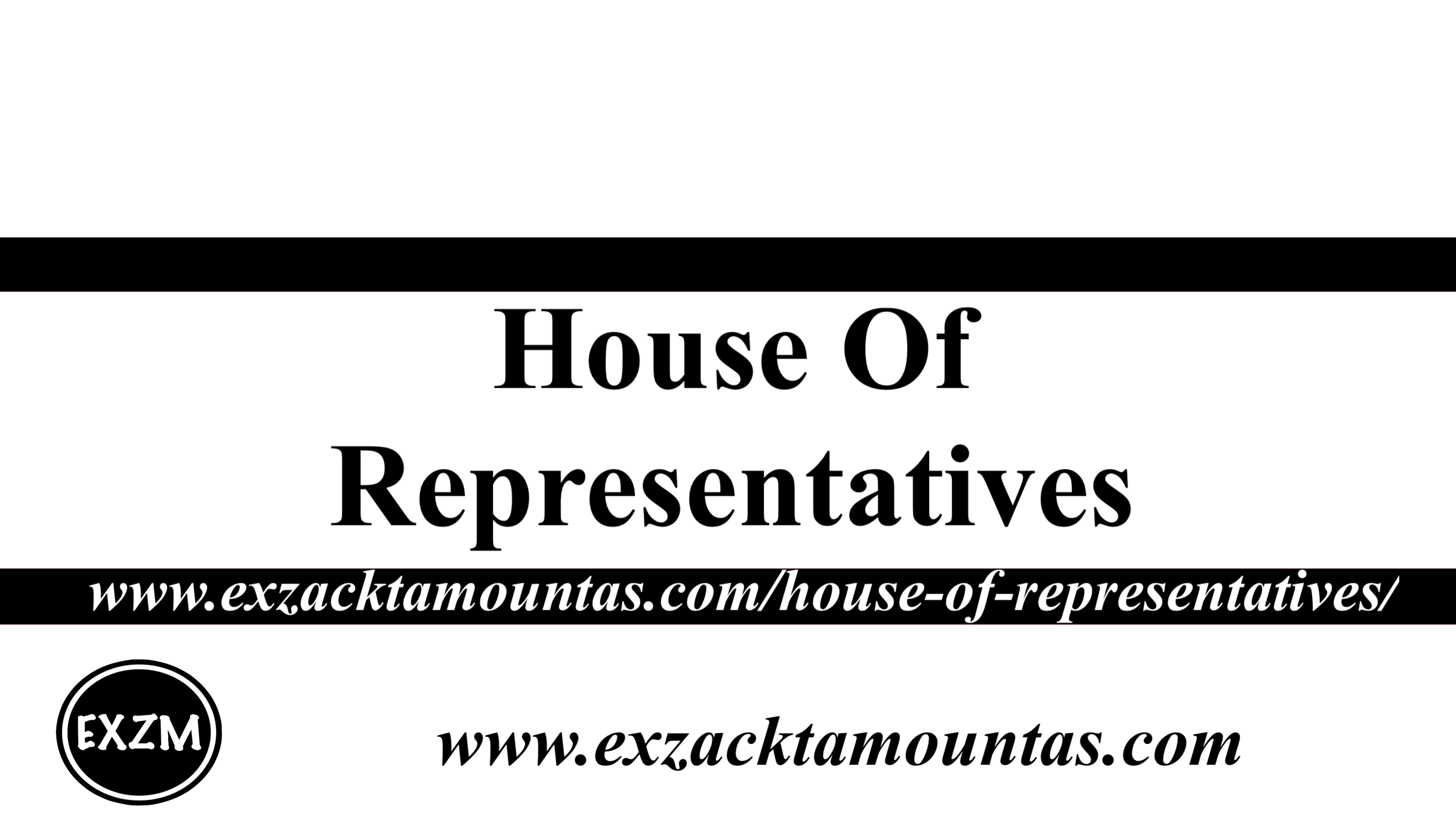 House Of Representatives EXZM 11 5 2019