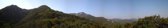 Uijeongbu Mountains.
