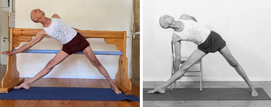 Eyal Shifroni - comparing use of a yoga trestle with that of a chair