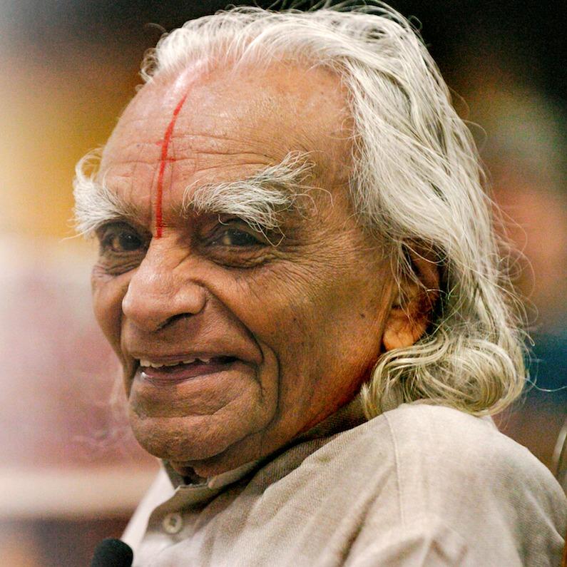 B. K. S. Iyengar smiling for the camera