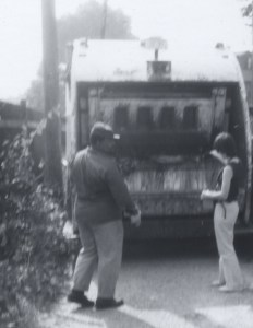 1972 behind garbage truck working for ralph nader