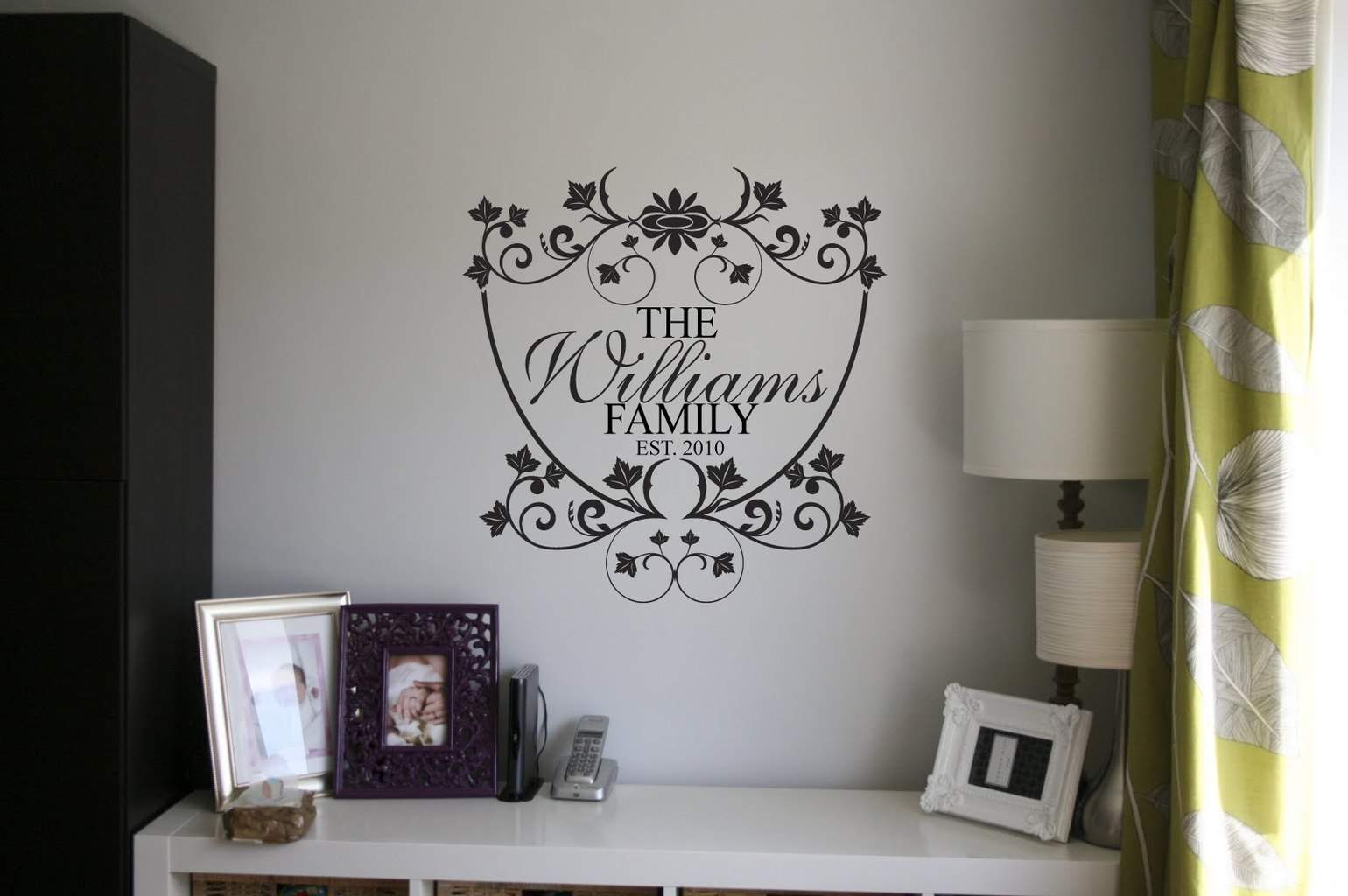 Personalised family name wall art decal
