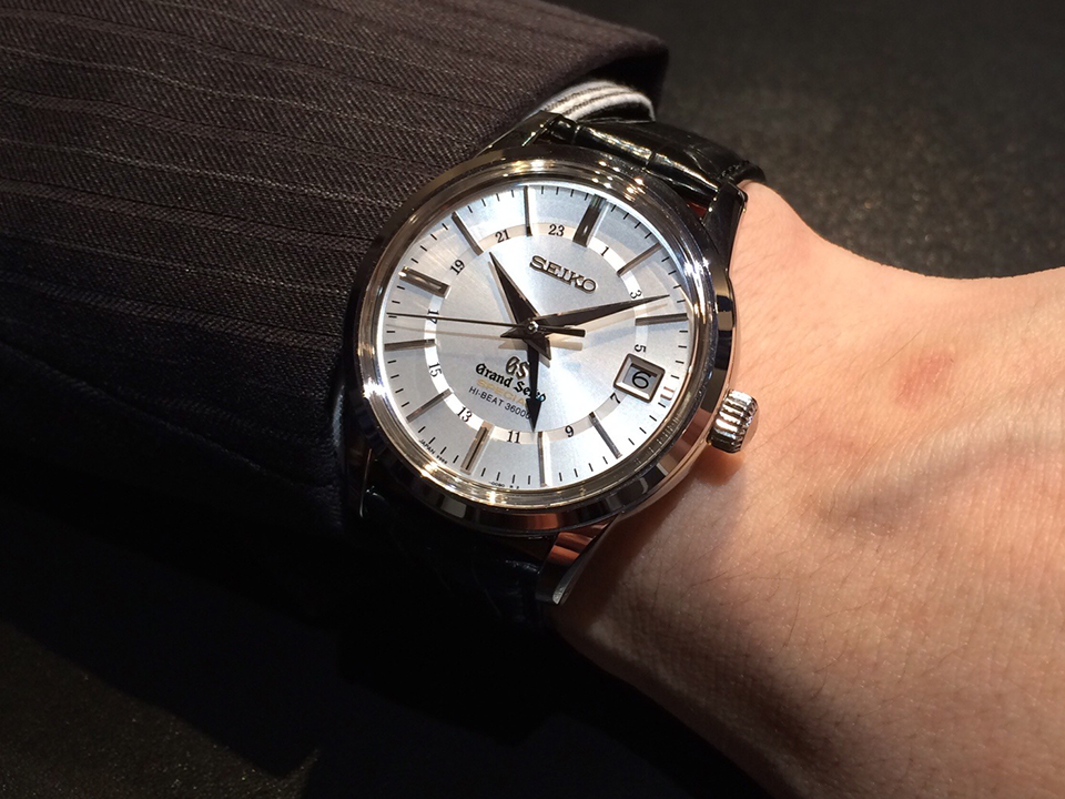 BASEL 2014 GRAND SEIKO MECHANICAL HI-BEAT36000 GMT 18K