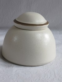 DANSK SANTIAGO WHITE BEIGE COVERED SUGAR BOWL & CREAMER ...
