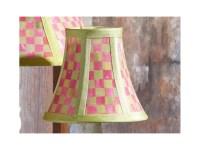 Mackenzie Childs TULIP CHECK Lamp SHADE - CHANDELIER NEW ...