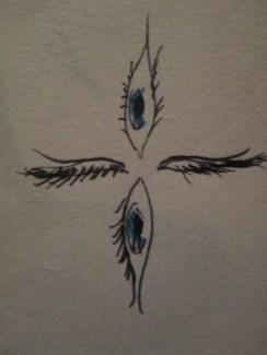 Day 353 6/29/14 Eye Cross Design