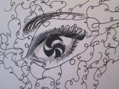 Day 363 7/9/14 Swirly Eye Motif