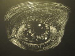 My art teacher let me borrow some scratchboard material, and this is the product!