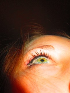 I used a setting on my camera that made the colors on my eye stand out.