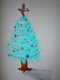 Christmas tree with eye ornaments...it was unintentionally creepy. Merry Christmas!