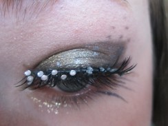 False Gem Lashes and Silver Liner duo