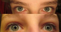 My eyes along with a relative's.