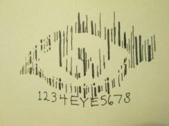 Day 245 3/13/14 Bar Code Eye