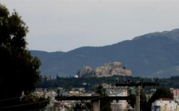 View of the Athens Acropolis from the factory roof