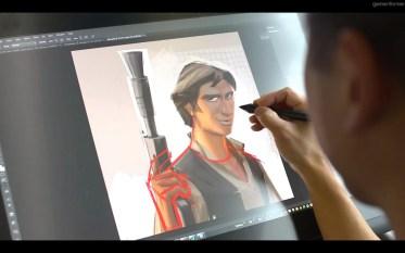 My ear drawing Han Solo.
