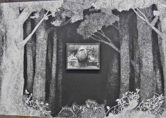 Martière grise, 2014 - fusain et mine de graphite sur papier - Courtesy Galerie Eva Hober, Paris - - (G) Au Village Jérôme -Zonder Le Lieu Unique à Nantes - 11 avril 2014