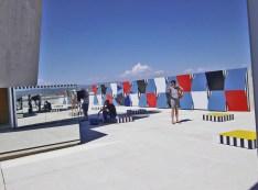 """ DéŽfini Fini Infini, Travaux in situ "" de Daniel Buren - 30.06. - 31.10.2014, MaMo, Marseille Modulor, Centre d'art de la CitéŽ Radieuse, Le Corbusier, Marseille"
