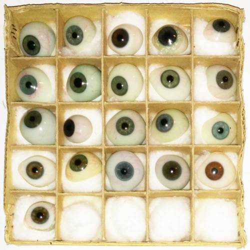 Blown Glass Prosthetic Eyes Thrid View - 1900