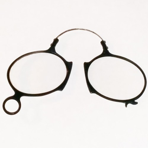 Ebonite pince-nez eye glasses around 1860