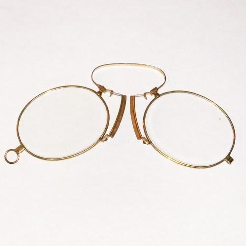 Gold plate pince-nez 1880
