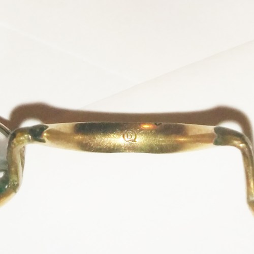 Gold filled wire rim spectacles from 1890