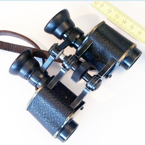 Short Keplerian binoculars