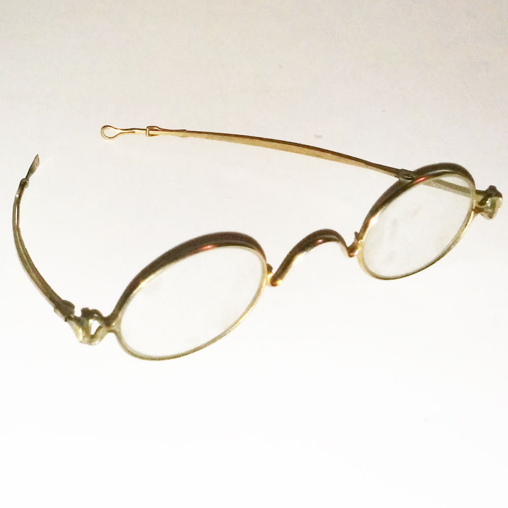 d83b037bac2 Gold wire frame glasses - Antique Collectible Vintage Optical ...