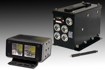 Onboard lighting systems, designed specifically for in-vehicle and sled applications