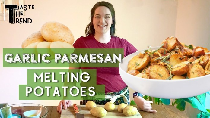 SHOW OFF with this Garlic-Parmesan Melting Potatoes Recipe!! | Buttery & Crispy | Taste The Trend