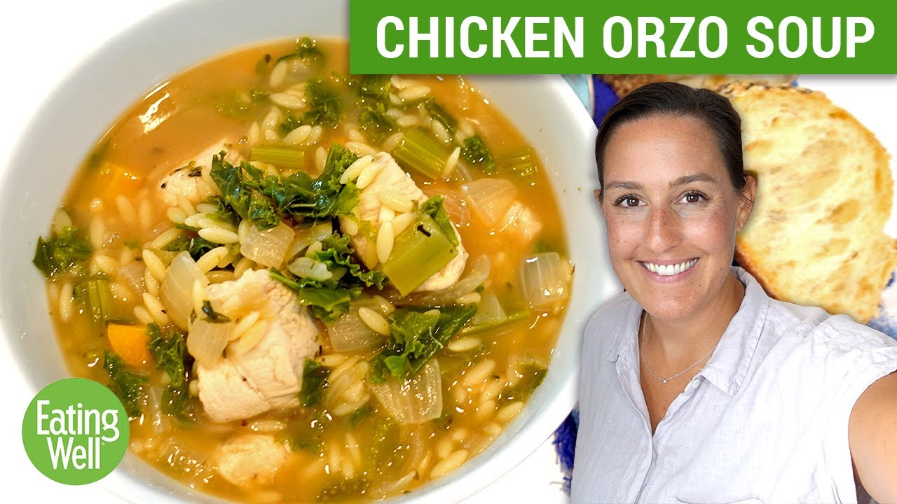 This Lemon Chicken Orzo Soup with Kale is the PERFECT Fall Soup Recipe   Prep School   Eating Well