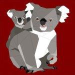 Koala Paper Piecing Pattern by Quilt Art Design