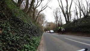 Horse riders on the B3401