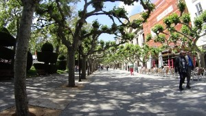 Pedestrian zone in Burgos