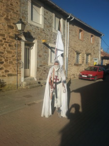 One of the most interesting pilgrims we encountered, at least from a dressing code point of view.