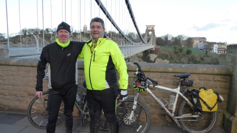 Fernando and I on the Clifton Bridge