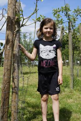 Issy with her sponsored tree