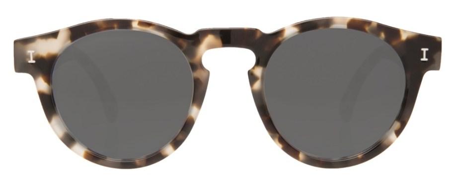 Illesteva Leonard White Tortoise w Grey Lenses