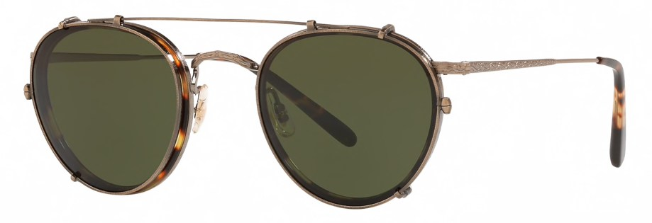 Oliver Peoples MP-2 CLIP – Antique Gold _ Green 3_4 side