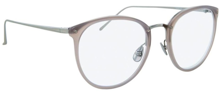 Optical Linda Farrow CALTHORPE C57 – Milky Grey 3:4 side