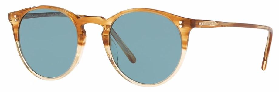 Sunglasses Oliver Peoples O'MALLEY – Honey VSB – Teal Polar 3_4 side