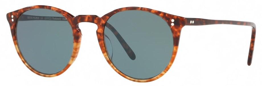Sunglasses Oliver Peoples O'MALLEY – Vintage 1282 – Blue Photocromic 3_4 side