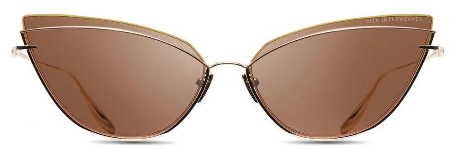 dita interweaver white gold brown sunglasses